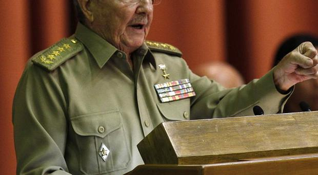 Cuba's President Raul Castro delivers his speech at the National Assembly in Havana, Cuba (AP/Ismael Francisco, Cubadebate)
