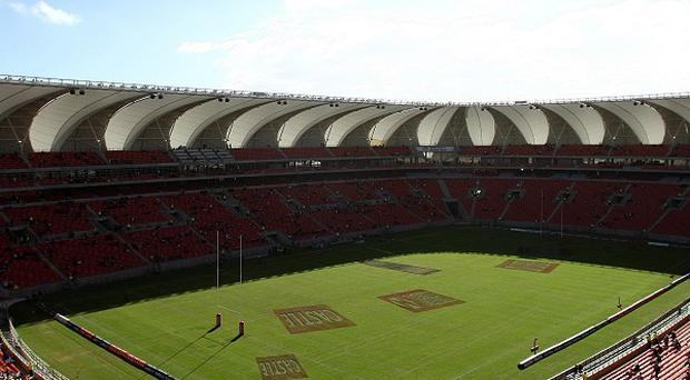 The Nelson Mandela Bay Stadium in Port Elizabeth, one of the World Cup venues