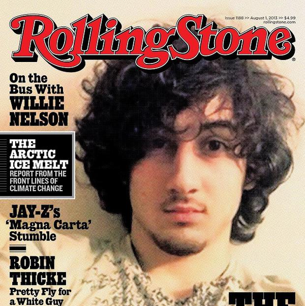 Boston Marathon bombing suspect Dzhokhar Tsarnaev appears on the cover of the August 1 issue of Rolling Stone (AP /Wenner Media)
