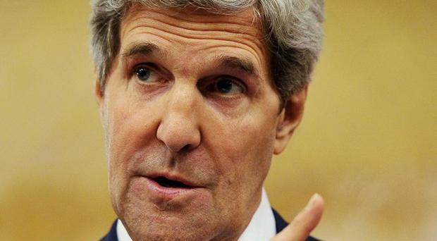 John Kerry met representatives of the Arab League in Jordan (AP/Mandel Ngan)