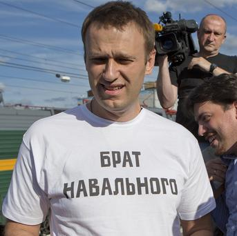 Russian opposition activist Alexei Navalny has been convicted of embezzlement (AP)