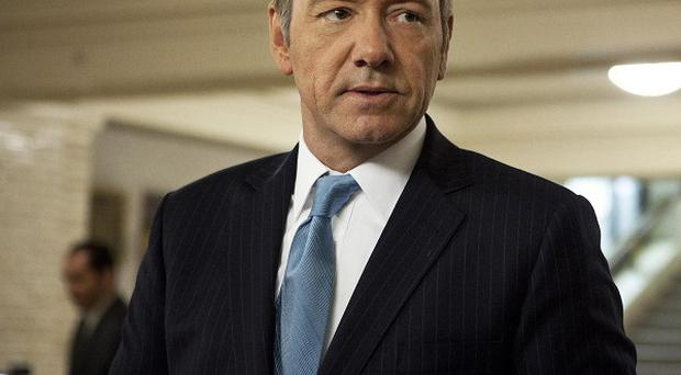 Kevin Spacey as a US congressman in a scene from the Netflix series House Of Cards (AP/Netflix, Melinda Sue Gordon)