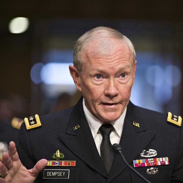 Gen Martin Dempsey appears before the Senate armed services committee (AP)