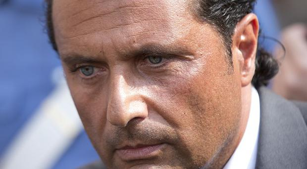 Costa Concordia captain Francesco Schettino is being tried separately (AP)