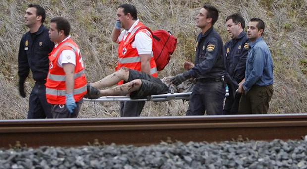 A train crash in Santiago de Compostela is the worst in Spain since 1944 (AP/El correo Gallego)