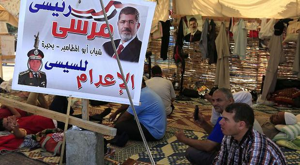 Supporters of Egypt's ousted president Mohammed Morsi (AP)