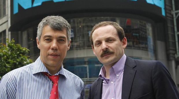 Ilya Segalovich, left, and Arkady Volozh (AP)