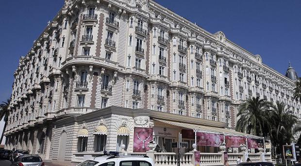 The Carlton hotel, in Cannes where jewel thieves grabbed £35.5 million (AP)