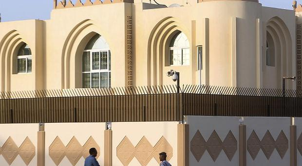 A Taliban office in Doha, Qatar, which was condemned by Afghan president Hamid Karzai (AP)