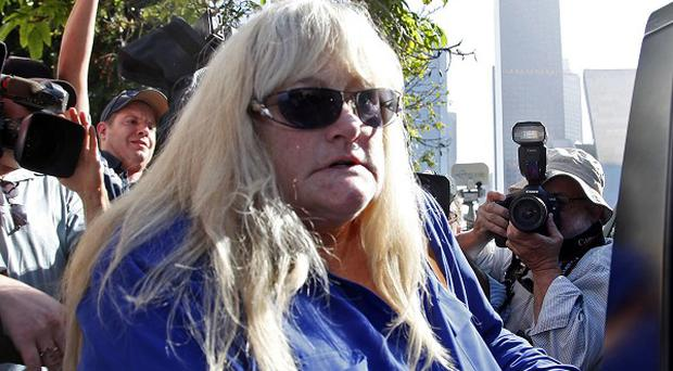 Debbie Rowe after testifying in the negligence lawsuit filed by Michael Jackson's mother, Katherine Jackson, against AEG Live (AP)