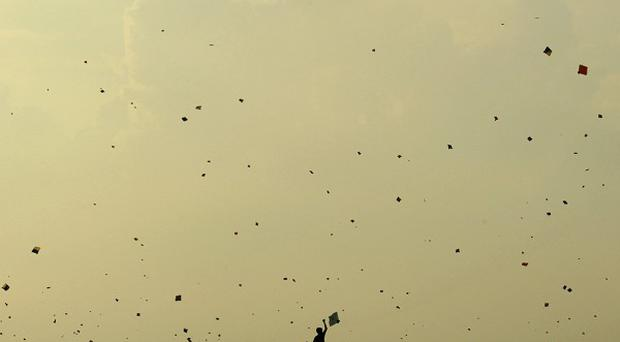 Kite flying is a popular hobby in India (AP)