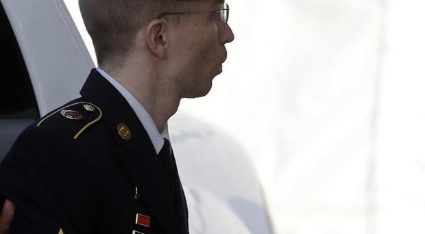 Bradley Manning on his way into court (AP)