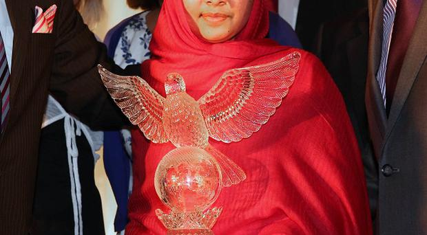 Malala Yousafzai, who was shot in the head by the Taliban, received the 2012 Tipperary International Peace Award