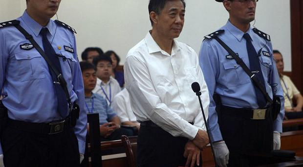 Bo Xilai is on trial at a court in eastern China's Shandong province (AP)