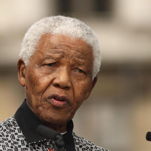 Nelson Mandela was admitted to a hospital on June 8 with what officials said was a recurring lung infection