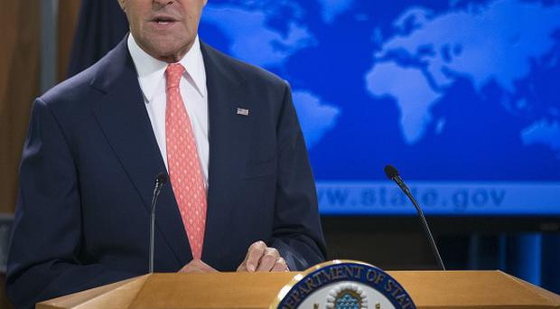 US Secretary of State John Kerry discusses the situation in Syria (AP)