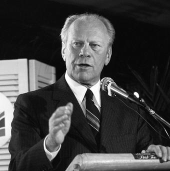Former US president Gerald Ford died at 93 at his California home in 2006