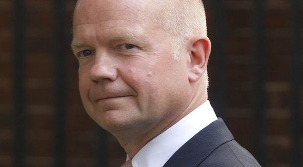 Foreign Secretary William Hague branded the use of chemical weapons in Syria a 'moral outrage'