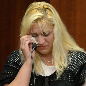 Sherry West, mother of toddler shot Antonio Santiago, testifies in court (AP/Atlanta Journal-Constitution, Johnny Crawford)