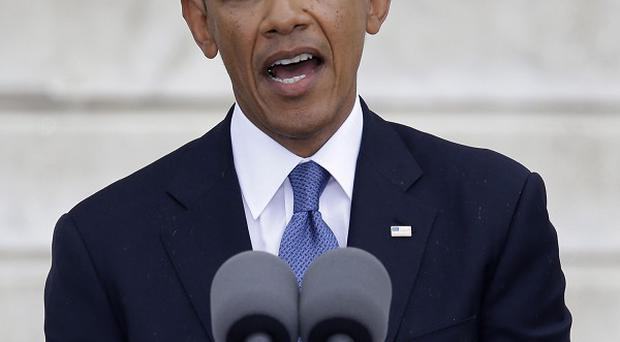 Barack Obama addressed the nation on the 50 year anniversary of Martin Luther King's I Have a Dream speech (AP)