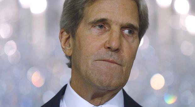 John Kerry makes a statement about Syria at the State Department in Washington (AP)