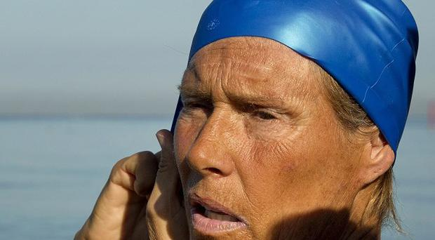 Diana Nyad is swimming from Cuba to Florida without a shark cage (AP/Ramon Espinosa)