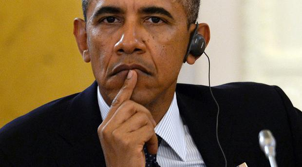 US president Barack Obama is trying to win support on Syria as clashes continued on the ground (AP)