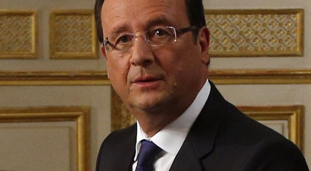 French President Francois Hollande has not ruled out military action against Syria (AP)