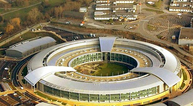 Concerns have been raised that Britain operates a top-secret listening post from its Berlin embassy to eavesdrop on the seat of German power. Photograph shows GCHQ's main base in Cheltenham, Gloucestershire