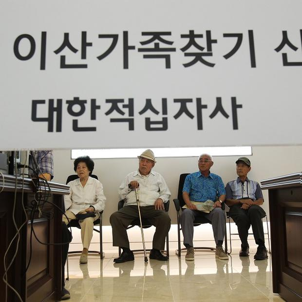 South Korean applicants for the reunions wait to find out if they can be reunited with their North Korean relatives (AP)