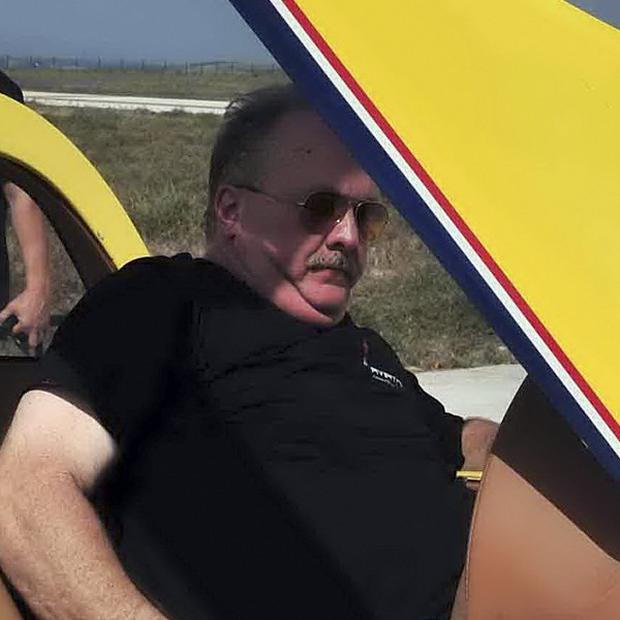 US stunt pilot David Riggs died in a crash in China (AP)