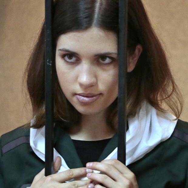 Nadezhda Tolokonnikova of the feminist punk band Pussy Riot has started a hunger strike to protest at harsh jail conditions (AP)