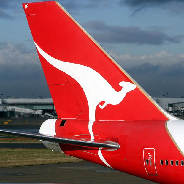 Qantas taff found the 8in Mandarin rat snake in the passenger cabin near the door