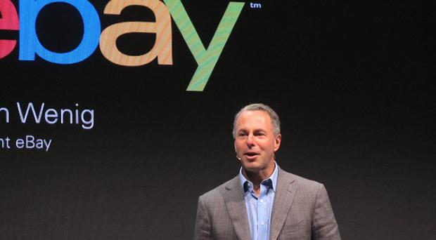 Devin Wenig, president of eBay marketplaces, speaks at a news conference in Berlin (AP)