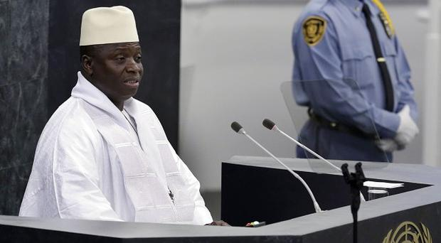 Gambia's President Yahya Jammeh told the UN that homosexuality is a threat to human existence. (AP)