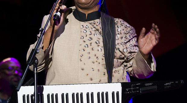 Stevie Wonder performs at the Global Citizen Festival.