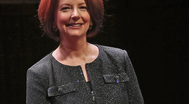 Former Australian prime minister Julia Gillard says she was the target of
