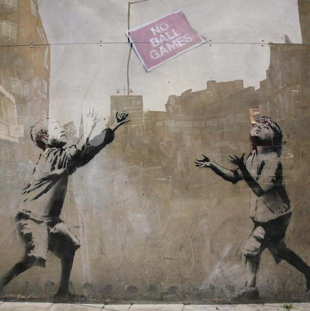 Graffiti by secretive British artist Banksy is turning up on the streets of New York City