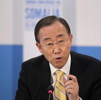 United Nations Secretary-General Ban Ki-moon wants to destroy Syria's chemical weapons by the middle of next year