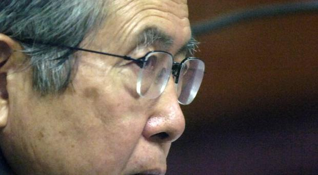 Peru's former President Alberto Fujimori has 10,000 Twitter followers three weeks after opening an account in prison (AP)