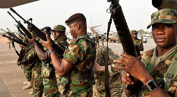 Ghanaian soldiers preparing to fly out to Mali earlier this year in support of the international operation to rid the country of Islamist militants.