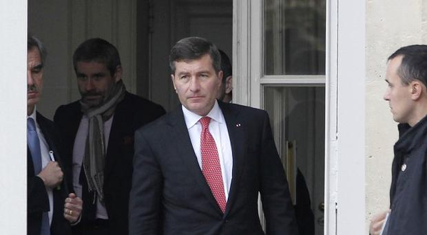 US Ambassador to France Charles Rivkin leaving the Foreign Ministry in Paris after being summoned to explain why America spied on one of their closest allies (AP)