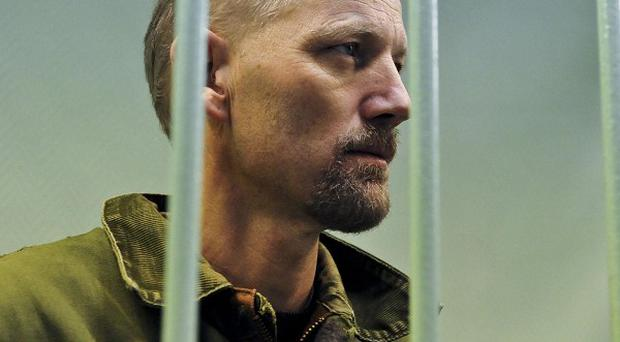 British Greenpeace activist Frank Hewetson in Murmansk court (AP)