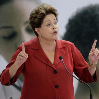 Brazil's President Dilma Rousseff has been especially outspoken on the issue of people's privacy in electronic communications (AP/Eraldo Peres)