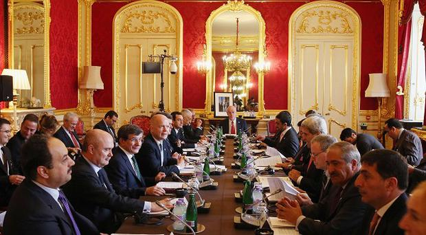 Foreign Secretary William Hague hosts a meeting of the 'London 11', from the Friends of Syria Core Group, in Lancaster House, central London, aimed at ending the brutal civil war in Syria