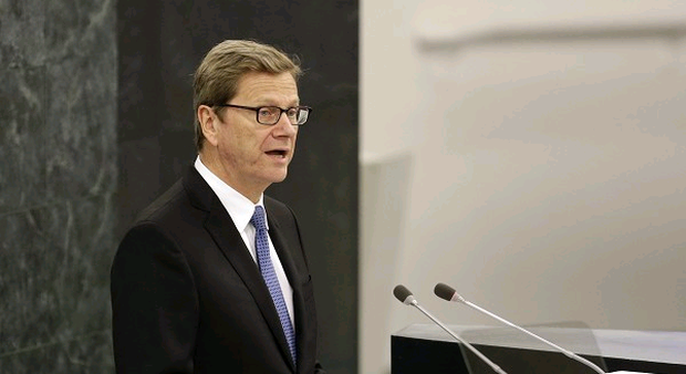 Germany's foreign affairs minister Guido Westerwelle has summoned Britain's ambassador