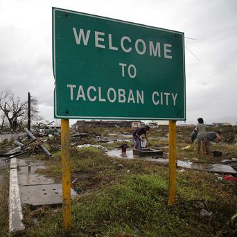A 21-year old gave birth to a baby girl amid Typhoon Haiyan which devastated the city of Tacloban (AP Photo/Aaron Favila)