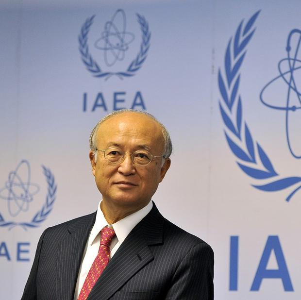 IAEA chief Yukiya Amano is holding talks with Iranian officials