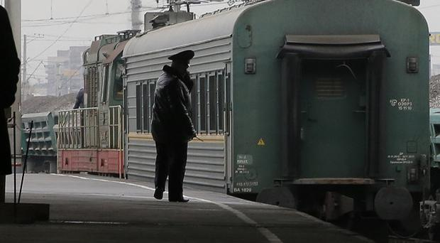 The 'Arctic 30' detainees have arrived in St Petersburg (AP)