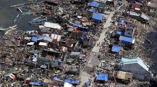 The Philippines typhoon was an exception in an average year for the storms (AP)
